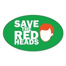 Save the Redheads Oval Decal