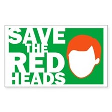 Save the Redheads Rectangle Decal