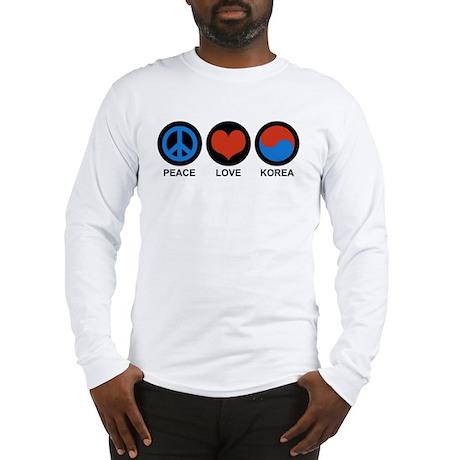 Peace Love Korea Long Sleeve T-Shirt