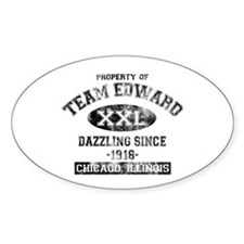Property of Team Edward Oval Decal
