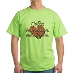 Colin broke my heart and I hate him Green T-Shirt