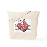 Colin broke my heart and I hate him Tote Bag