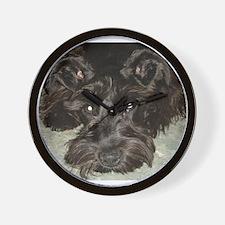 Cute Schnauzers Wall Clock