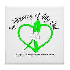 Lymphoma Memory Dad Tile Coaster