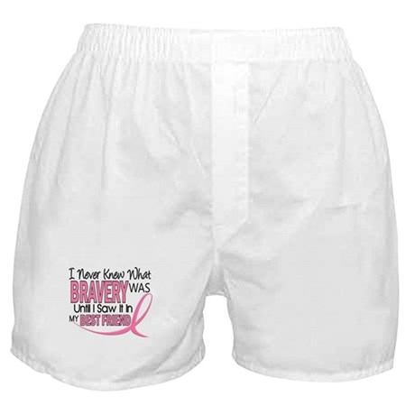Bravery (Best Friend) Breast Cancer Boxer Shorts