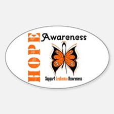 Leukemia Hope Oval Decal