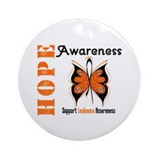 Leukemia Hope Ornament (Round)