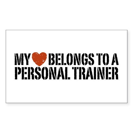 My Heart Personal Trainer Rectangle Sticker