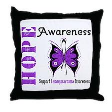 Leiomyosarcoma Hope Throw Pillow