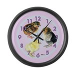 Baby Chick Trio Large Wall Clock