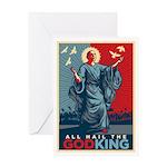 God-King Greeting Card