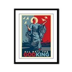 God-King Framed Panel Print