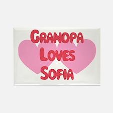Grandpa Loves Sofia Rectangle Magnet