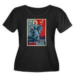 God-King Women's Plus Size Scoop Neck Dark T-Shirt
