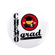 "Chemo Grad Lung Cancer 3.5"" Button"
