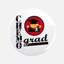 """Chemo Grad Lung Cancer 3.5"""" Button"""