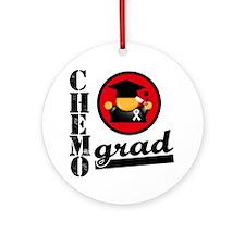 Chemo Grad Lung Cancer Ornament (Round)