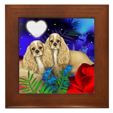 COCKER SPANIEL DOG Framed Tile