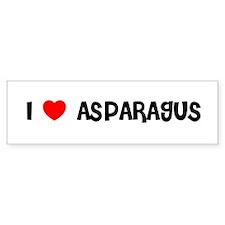 I LOVE ASPARAGUS Bumper Bumper Sticker