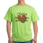 Clarice broke my heart and I hate her Green T-Shir