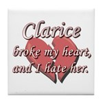 Clarice broke my heart and I hate her Tile Coaster