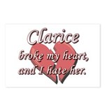 Clarice broke my heart and I hate her Postcards (P