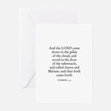 NUMBERS  12:5 Greeting Cards (Pk of 10)