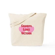 Grandpa Loves Victoria Tote Bag