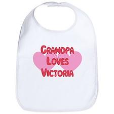 Grandpa Loves Victoria Bib