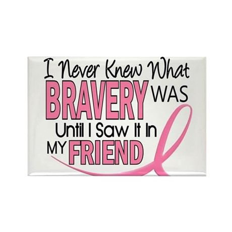 Bravery (Friend) Breast Cancer Rectangle Magnet