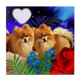 Pomeranian art Drink Coasters