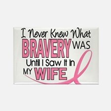 Bravery (Wife) Breast Cancer Support Rectangle Mag
