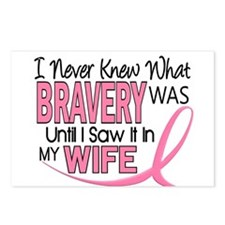 Bravery (Wife) Breast Cancer Support Postcards (Pa