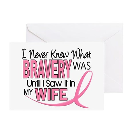 Bravery (Wife) Breast Cancer Support Greeting Card