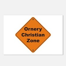 Christian / Ornery Postcards (Package of 8)