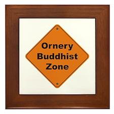 Buddhist / Ornery Framed Tile