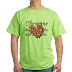 Cheyenne broke my heart and I hate her Green T-Shi