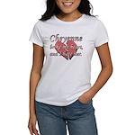 Cheyenne broke my heart and I hate her Women's T-S