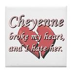 Cheyenne broke my heart and I hate her Tile Coaste