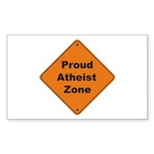 Atheist Zone Rectangle Decal