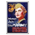 World War II Woman Marines Recruiting Banner