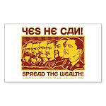 Spread the Wealth Rectangle Sticker 10 pk)
