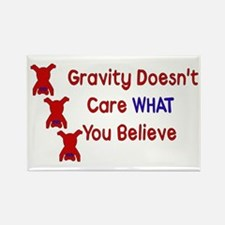 Gravity Doesn't Care Rectangle Magnet