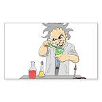 Mad Scientist Rectangle Sticker 50 pk)