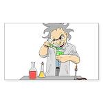 Mad Scientist Rectangle Sticker 10 pk)