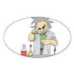 Mad Scientist Oval Sticker (50 pk)