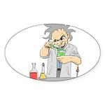 Mad Scientist Oval Sticker (10 pk)