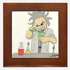 Mad Scientist Framed Tile