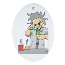 Mad Scientist Oval Ornament