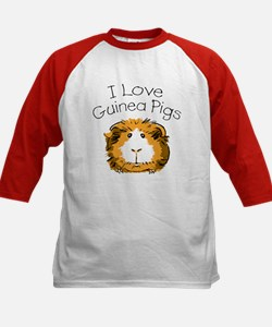I love guinea pigs Kids Baseball Jersey